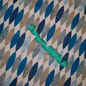 Ткань на отрез полулен 150 см 11575 фото