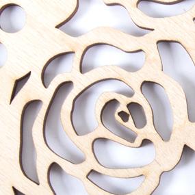 Деревянное донышко для корзин ажурный круг розы АК17 15 см фото