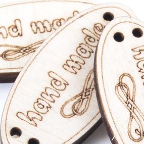 Бирки-ярлыки из дерева с гравировкой овальные 20х50 мм фото