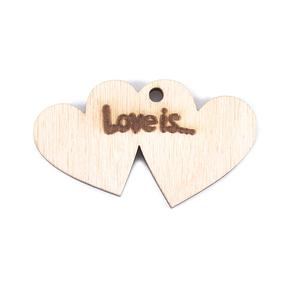 Фигурка из дерева Love is фото