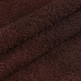 Махровая ткань 220 см 430гр/м2 цвет темно-коричневый фото