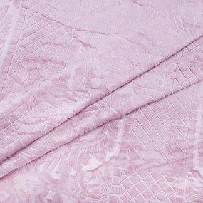 Покрывало бубон с рисунком 200/220 цвет светло-розовый фото