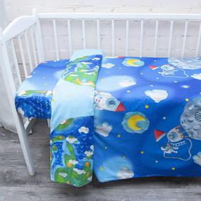 Пододеяльник детский из перкаля 13095/1 Пластилиновый космос, 110х145 см фото