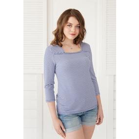 Блуза 0220 цвет Синий р 42 фото