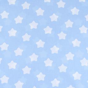 Мерный лоскут бязь плательная 150 см 1737/3 цвет голубой 1,5 м фото