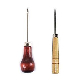 Шило деревянная ручка с крючком 12см МС-115 фото