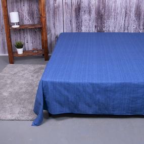 Простыня перкаль 2049315 Эко 15 синий 1.5 сп фото