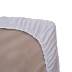 Простыня на резинке бязь отбеленная 120 гр/м2 120/200/20 см фото