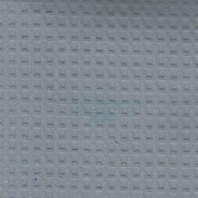 Ткань на отрез вафельное полотно гладкокрашенное 150 см 240 гр/м2 7х7 мм цвет светло-серый 040 фото