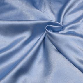 Шелк искусственный 100% полиэстер 220 см цвет голубой фото