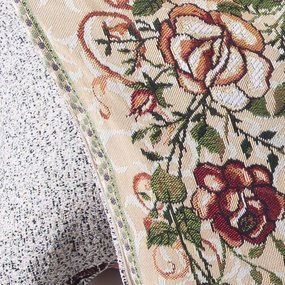 Наволочка гобелен декоративная 45/65 см Плетистая роза 2505 фото