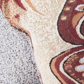 Наволочка гобелен декоративная 45/65 см Стрекоза и бабочка 2504 фото