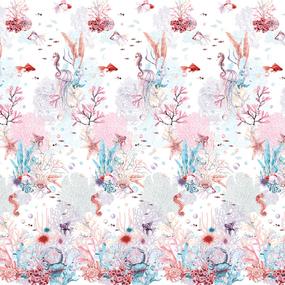 Перкаль 220 см набивной арт 239 Тейково рис 6723 вид 1 Коралловые рифы фото