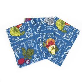 Набор вафельных полотенец 3 шт 35/75 см 3022-1 Фреш-бар цвет синий фото