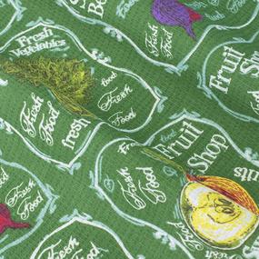 Набор вафельных полотенец 3 шт 35/75 см 3022-2 Фреш-бар цвет зеленый фото