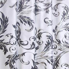 Портьерная ткань с люрексом 150 см на отрез Х7187 цвет серый вензель фото