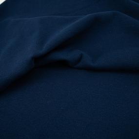 Ткань на отрез кашкорсе с лайкрой 5502-1 цвет темный индиго фото
