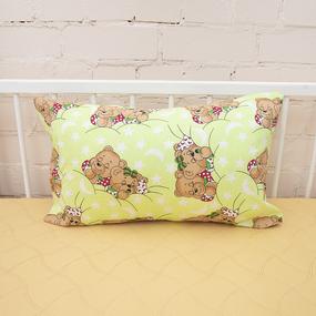 Наволочка бязь детская Спящие мишки цвет зеленый 40/60 см фото
