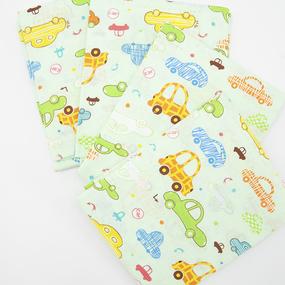 Набор детских пеленок ситец 4 шт 95/120 см 5583/5 Веселые машинки фото