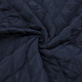 Курточная ткань на отрез цвет темно-синий фото
