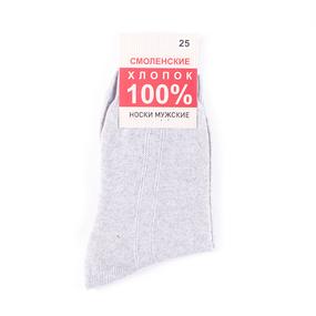Мужские носки С100-В/4 Смоленский хлопок цвет светло-серый размер 31 фото