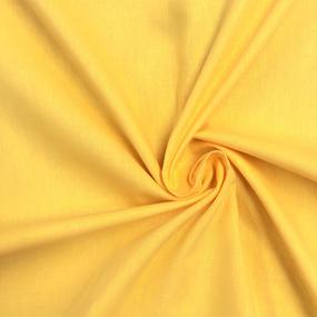 Ткань на отрез поплин гладкокрашеный 150 см цвет манго фото