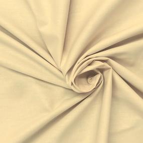 Ткань на отрез поплин гладкокрашеный 150 см цвет миндаль фото