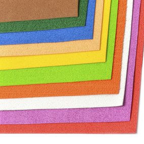 Набор махрового фоамирана Magic 4 Hobby 2 мм ассорти №1 20х30 см уп.10шт фото