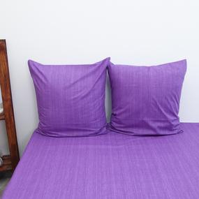 Наволочка перкаль 2049310 Эко 10 фиолетовый упаковка 2 шт 70/70 фото