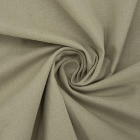 Ткань на отрез лен цвет темно-бежевый фото