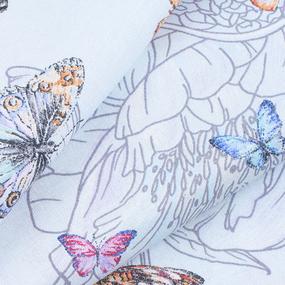 Ткань на отрез бязь Премиум 150 см 13091/1 Бабочки фото