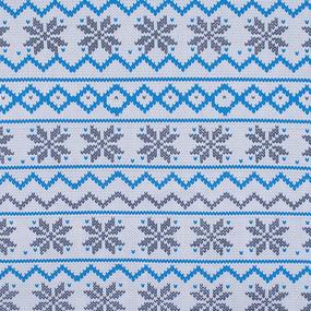 Ткань на отрез интерлок пенье Скандинавия R352 цвет синий фото