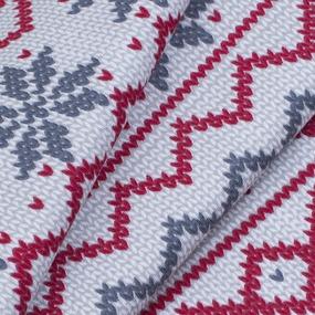 Ткань на отрез интерлок пенье Скандинавия R352 цвет красный фото