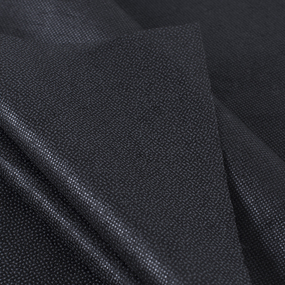 Ткань на отрез флизелин 90 см 30 гр/м2 цвет черный фото