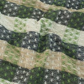 Плед Ромбики 100% ПАН 500 гр цвет зеленый 150/210 см фото