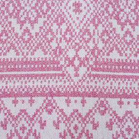 Плед Байковый хб 400 гр цвет розовый 150/210 см фото