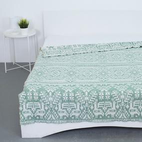 Плед Байковый хб 400 гр цвет зеленый 190/200 см фото