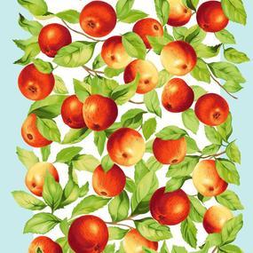 Ткань на отрез вафельное полотно 50 см 170 гр/м2 5616/1 Яблочки фото
