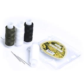 Набор нитки армированные Армейский 45ЛЛ цв белый, белый, т-хаки, черный уп 4шт+3 иголки 150м фото