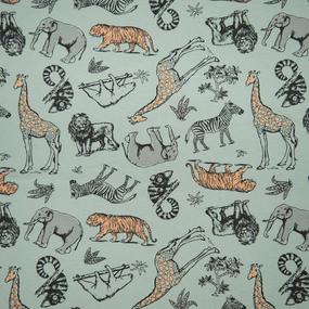Ткань на отрез кулирка R3384-V2 Зоопарк фото