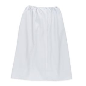 Вафельная накидка на резинке для бани и сауны женская цвет белый фото