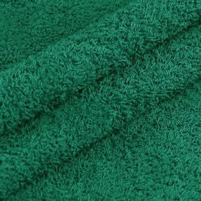 Махровая ткань 220 см 430гр/м2 цвет темно-зеленый фото