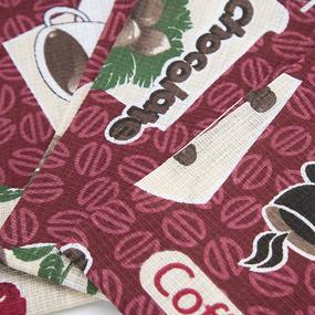 Набор вафельных полотенец 3 шт 35/70 см 366-6 Шоколадный фото