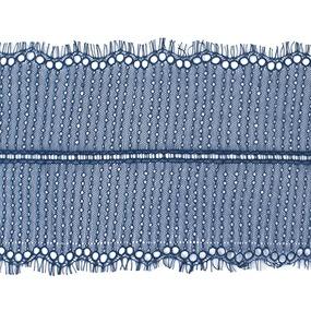 Кружево реснички 20см XJ026-1 синий упаковка 3м фото