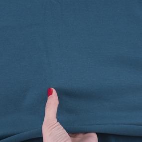 Ткань на отрез кулирка гладкокрашеная 6632 цвет петроль фото