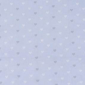 Ткань на отрез поплин 150 см 1971/1 Сердечки цвет голубой фото