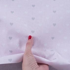 Ткань на отрез поплин 150 см 1971/2 Сердечки цвет розовый фото