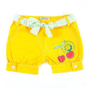 Шорты детские Вишня цвет желтый рост 92 фото