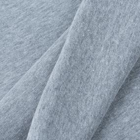 Ткань на отрез рибана с лайкрой М-2000 серый меланж фото
