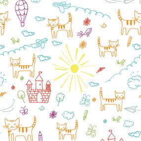 Ткань на отрез бязь 120 гр/м2 детская 150 см 7689 Кошкин дом фото